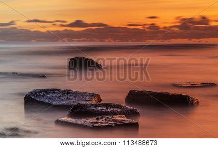 Long Exposure Ocean Sunset
