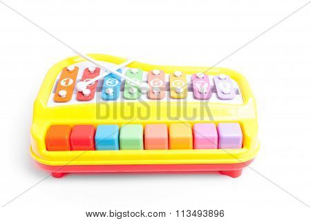 Glockenspiel Toy Isolated On White Background