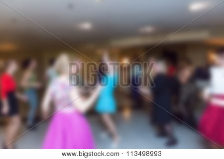 Party At The Restaurant Theme Blur Background