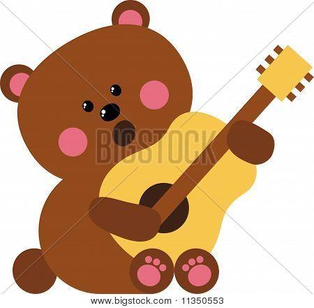 Bear with Guitar
