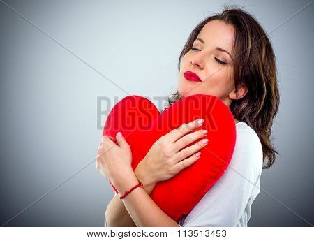 Romantic Sentimental Woman With A Heart