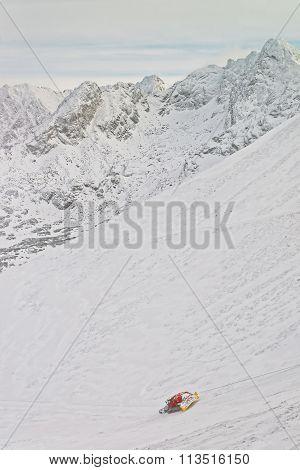Ratrack At Work In Kasprowy Wierch Peak Of Zakopane In Winter