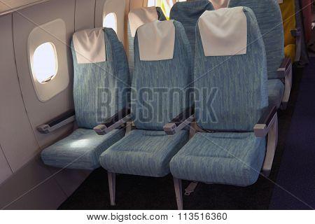 Comfortable Seats In Aircraft Cabin Tu-144.