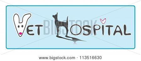 Vet Hospital Logo Font Design