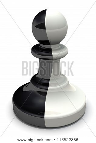 Two-faced pawn. The pawn is a traitor