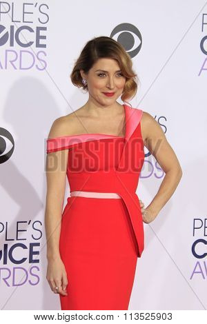 LOS ANGELES - JAN 6:  Sasha Alexander at the Peoples Choice Awards 2016 - Arrivals at the Microsoft Theatre L.A. Live on January 6, 2016 in Los Angeles, CA