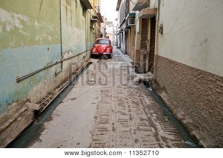 Red Old Car