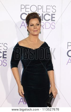 LOS ANGELES - JAN 6:  Marcia Gay Harden at the Peoples Choice Awards 2016 - Arrivals at the Microsoft Theatre L.A. Live on January 6, 2016 in Los Angeles, CA