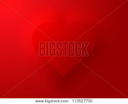 Embossed Red Heart Symbol
