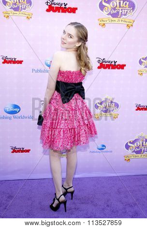 Darcy Rose Byrnes at the Los Angeles premiere of