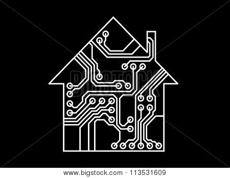 Smart household vector, printed circuit board