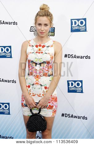 Gillian Zinser at the 2012 Do Something Awards held at the Barker Hangar in Los Angeles, USA on August 19, 2012.