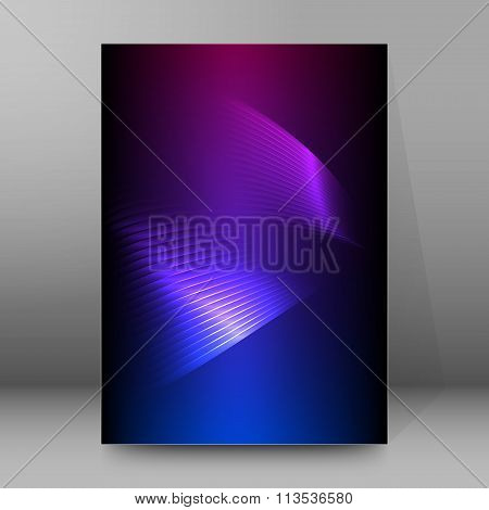 Wings Of Light Purple Background Brochure Cover Page