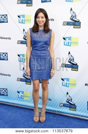 Aubrey Plaza at the 2012 Do Something Awards held at the Barker Hangar in Los Angeles, USA on August 19, 2012.