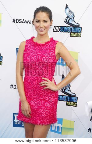 Olivia Munn at the 2012 Do Something Awards held at the Barker Hangar in Los Angeles, USA on August 19, 2012.