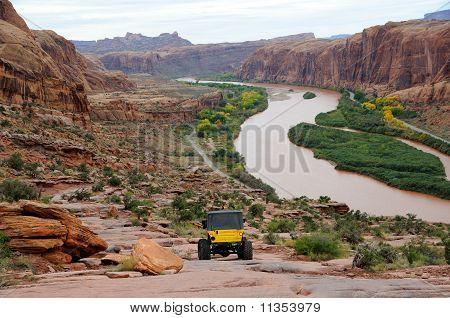 Travels Down Rugged Moab Rim Trail