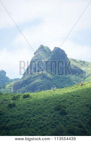mountain on island