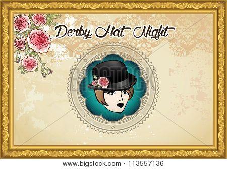 Derby Hat Night Background