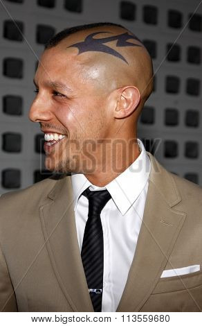 HOLLYWOOD, CALIFORNIA - August 30, 2011. Theo Rossi at the Season 4 premiere of FX Network's