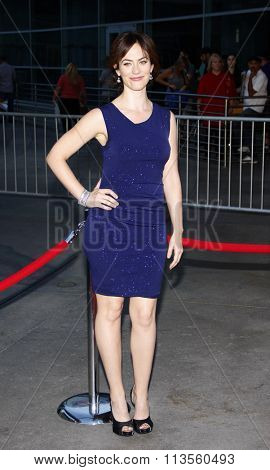HOLLYWOOD, CALIFORNIA - August 30, 2011. Maggie Siff at the Season 4 premiere of FX Network's