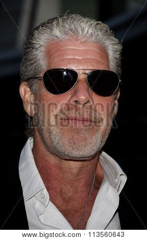 HOLLYWOOD, CALIFORNIA - August 30, 2011. Ron Perlman at the Season 4 premiere of FX Network's