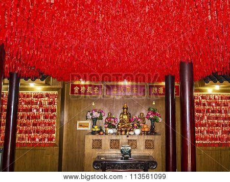 Guanyin Godess Of Mercy Taoist God Statues City God Temple Yueyuan Shanghai China