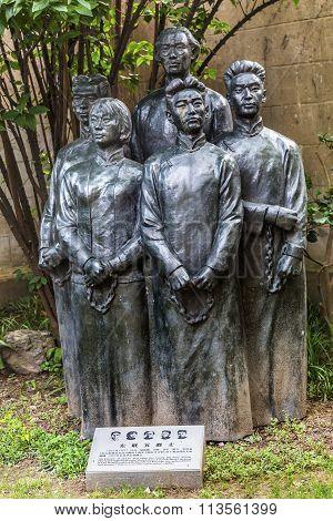Writers Stautue Old Duolon Cultural Road Hongkou District Shanghai China
