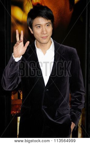 Leehom Wang at the Los Angeles premiere of