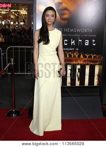 Wei Tang at the Los Angeles premiere of