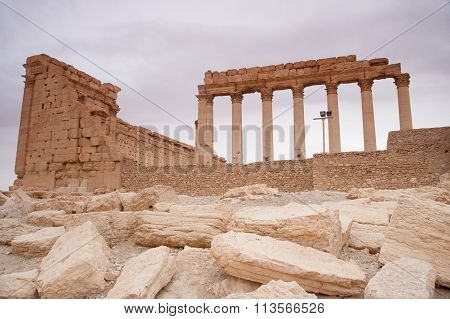 Ruins Of The Ancient City Of Palmyra, Syrian Desert