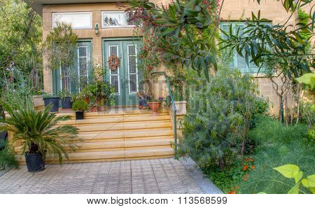Beautiful Traditional House  Garden And Entrance, Nicosia, Cyprus