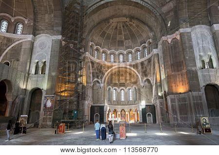 Church Of Saint Sava Interior, Belgrade, Serbia