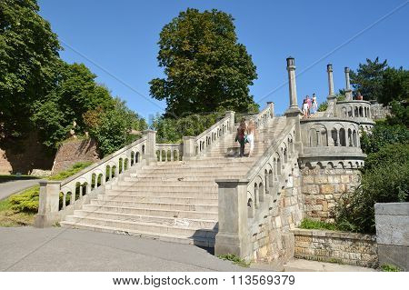 Stairs At Kalemegdan Park, Belgrade Fortress, Serbia