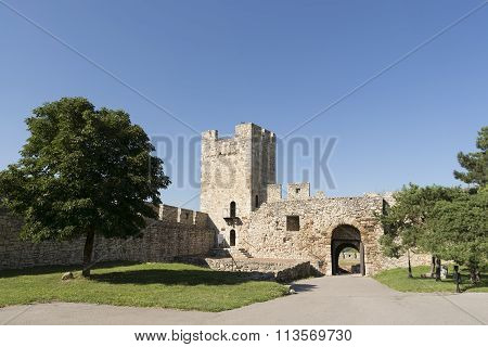 Despot's Gate And Tower Inside Belgrade Fortress Complex, Serbia