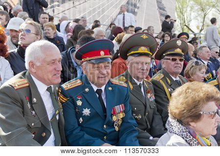 Russian Colonel On Celebration At The Parade On Annual Victory Day, May, 9, 2015 In Samara, Russia