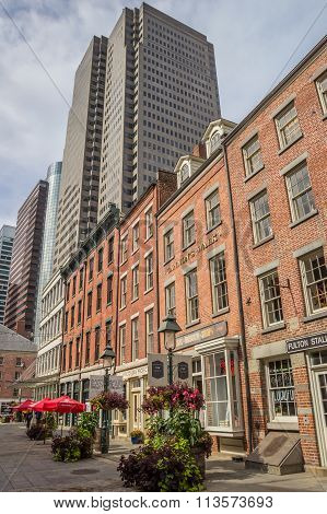 Old Buildings In South Street Seaport, New York