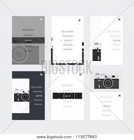 Minimalistic Hipster Ui Kit For Designing Responsive Websites, Mobile Apps & User Interface.  Old Ca