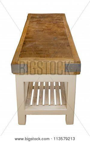 Butchers Old Vintage Antique Table Block