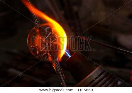 Glass Blowing  Christmas Ornament