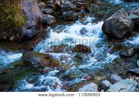 Stony Bottom Of The Mountain River