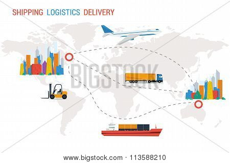Logistics and delivery from one city to another
