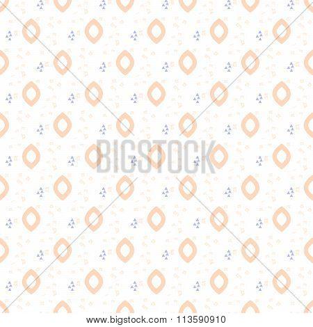 Oval drops tender seamless pattern.