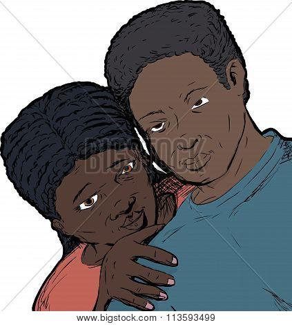 Loving Black Couple