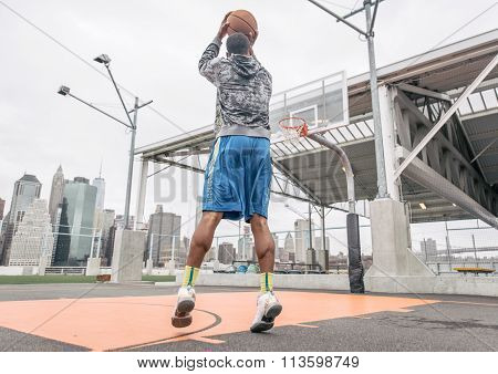 Basketball Player Playing On The Court