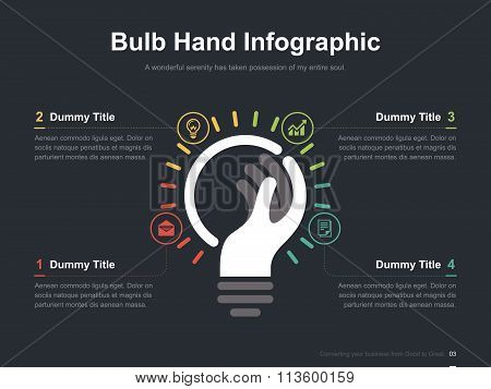 Business vector infographic slide template 0003