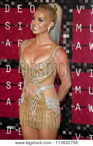 Britney Spears at the 2015 MTV Video Music Awards held at the Microsoft Theatre in Los Angeles, USA on August 30, 2015.