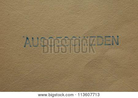 Ausgeschieden - Withdrawn