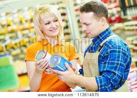 Hardware store worker or buyer