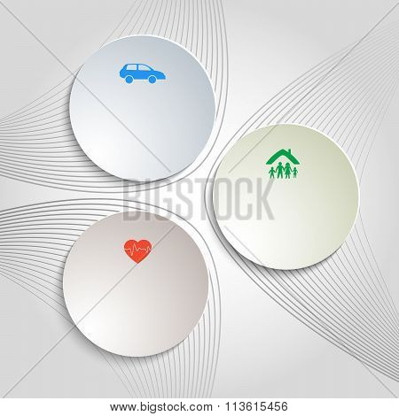 Insurance Topic White Background Flyer Layout