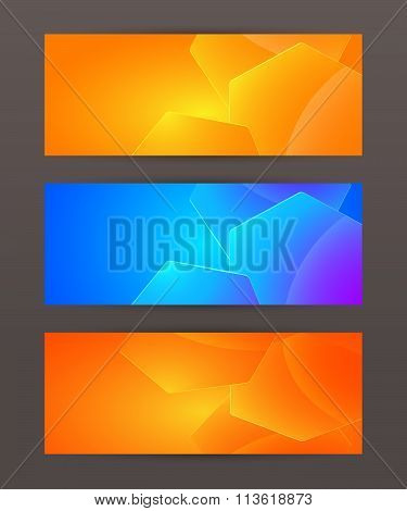 Set Of Horizontal Banner Header Website11